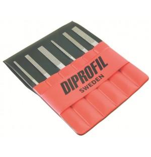 Sada diamantových kónických strojových pilníkov DIPROFIL® DLM (6ks)