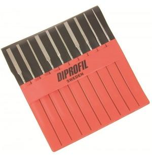 Sada diamantových kónických ručných pilníkov DIPROFIL® DLL (10ks)