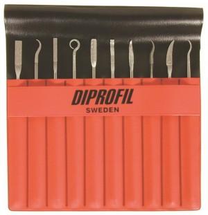 Sada diamantových ručných pilníkov DIPROFIL® DLD (10ks)