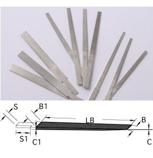 Sada diamantových kónických strojových pilníkov DLC (10ks)