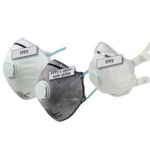 Ochranné masky proti jemnému prachu