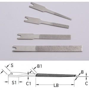 Diamantové kónické strojné pilníky DLFL