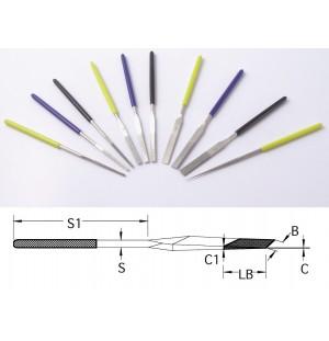 Diamantové kónické ručné pilníky DLP